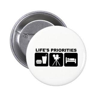 Las prioridades de la vida, películas chapa redonda 5 cm