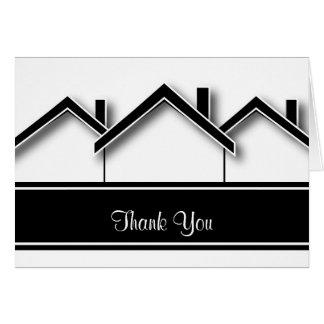 Las propiedades inmobiliarias le agradecen tarjeta pequeña