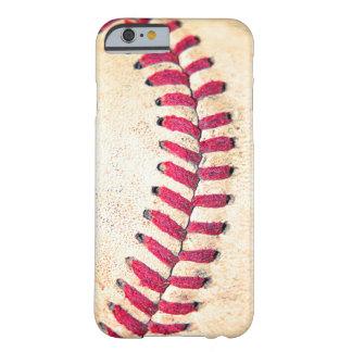 Las puntadas rojas del béisbol del vintage se funda de iPhone 6 barely there
