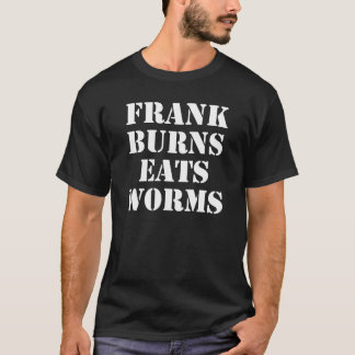 Las quemaduras de Frank comen la camiseta de los