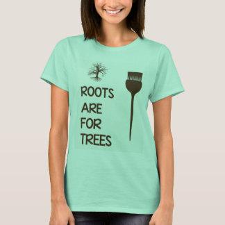 Las raíces están para la camisa del Hairstylist de