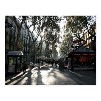 Las Ramblas, Barcelona, postal