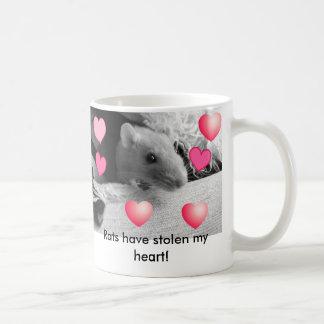 ¡Las ratas han robado mi corazón! Taza De Café