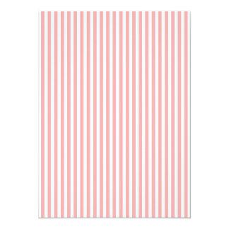 Las rayas de las tarjetas del día de San Valentín Invitación 13,9 X 19,0 Cm