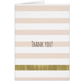 Las rayas del oro blanco del melocotón le tarjeta pequeña