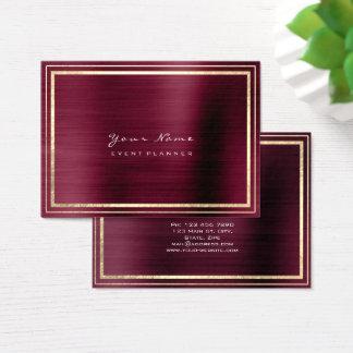 Las rayas enmarcaron el marrón metálico mínimo de tarjeta de visita