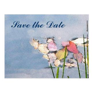 Las reflexiones en colores pastel ahorran la fecha postal