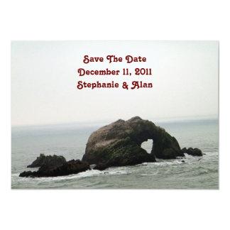 Las rocas del amor ahorran la fecha invitación 12,7 x 17,8 cm