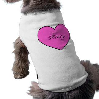 Las rosas fuertes personalizaron la ropa del camiseta sin mangas para perro