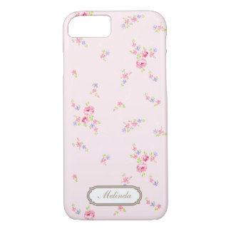 Las rosas románticas palidecen - la caja rosada funda iPhone 7