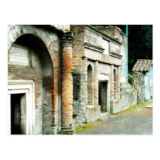 Las ruinas de Pompeya - mercado con los templos Postal