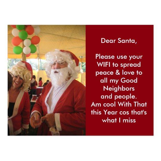 Las se refrescan con esa postal de Santa