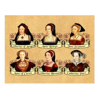 Las seis esposas del Enrique VIII clásico Postal