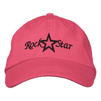 Las señoras de la estrella del rock bordaron el go gorra de beisbol
