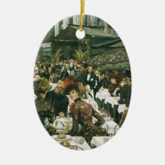 Las señoras del artista de James Tissot Adorno Ovalado De Cerámica