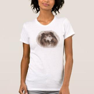 las señoras del perro del collie camiseta