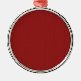 Las sombras en blanco llanas DIY del rojo añaden Adorno Navideño Redondo De Metal