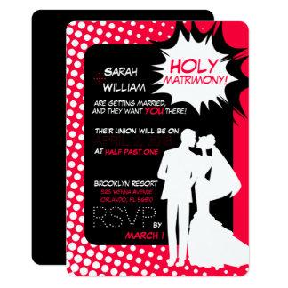 ¡Las superpotencias del matrimonio! Invitación 12,7 X 17,8 Cm