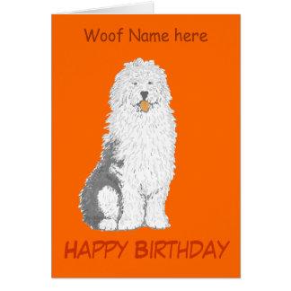 Las tarjetas de cumpleaños inglesas viejas del
