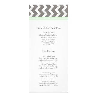 Las tarjetas de encargo del estante del salón acuñ diseño de tarjeta publicitaria