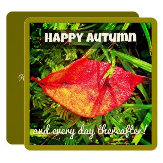 Las tarjetas de felicitación felices del otoño con