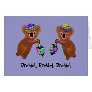 Tarjeta Las tarjetas de juego de Dreidel de la koala