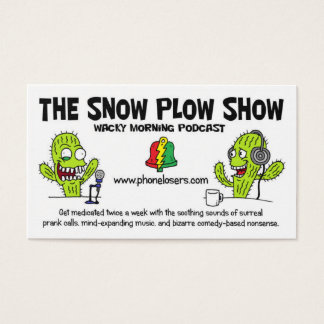 Las tarjetas de la show business del quitanieves