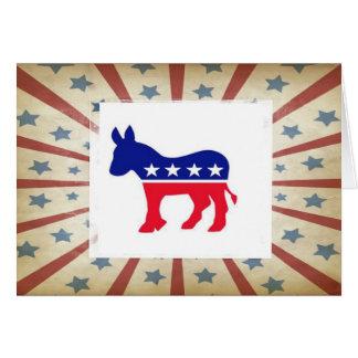 Las tarjetas de nota Democratic - agradezca le, el