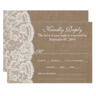 Las tarjetas de RSVP de la colección de la Invitación 8,9 X 12,7 Cm
