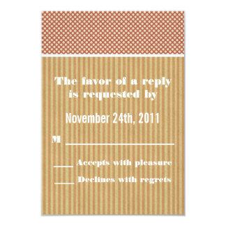 Las tarjetas de RSVP de los lunares rojos y de las Invitación 8,9 X 12,7 Cm