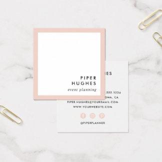 Las tarjetas de visita cuadradas minimalistas