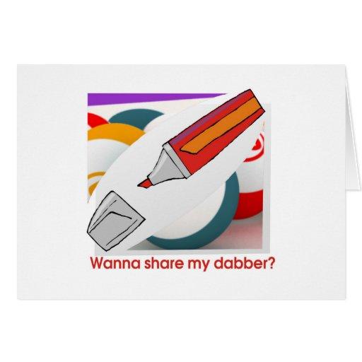 ¿Las tarjetas del bingo - quiera compartir mi dabb