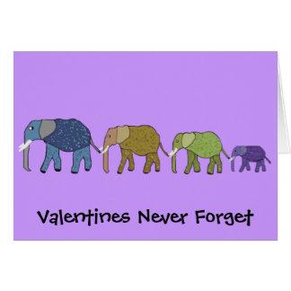 Las tarjetas del día de San Valentín nunca olvidan