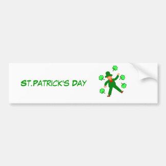 Las tarjetas del día de St Patrick añaden el frent Pegatina Para Coche