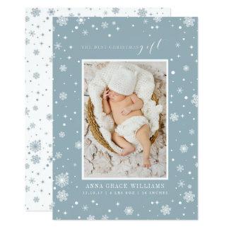 Las tarjetas recién nacidas de la foto del mejor invitación 12,7 x 17,8 cm