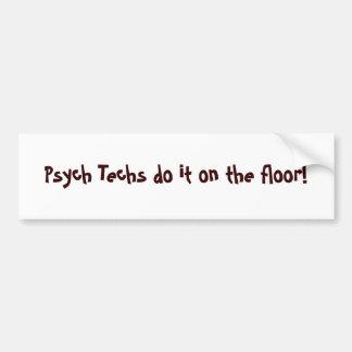 ¡Las tecnologías de Psych lo hacen en el piso! - M Pegatina De Parachoque