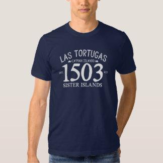 Las Tortugas Est. 1503 azules marinos Camiseta