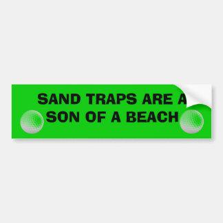 Las trampas de arena son un hijo de un carro de pegatina para coche
