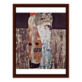 Las tres edades de la mujer de Klimt Gustavo Postales