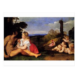 Las tres edades del hombre por Titian Postal