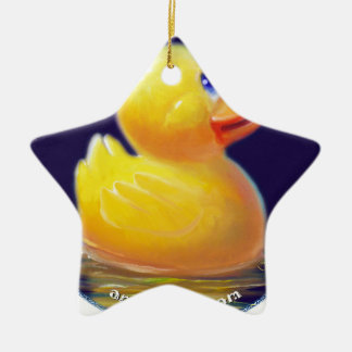 Las vacaciones del pato de goma ornamento para reyes magos