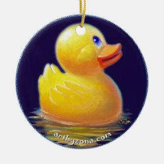 Las vacaciones del pato de goma ornamentos de navidad