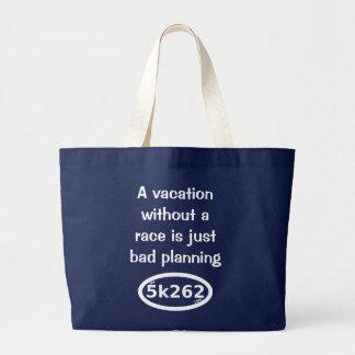 Las vacaciones sin una raza son apenas mún bolso de tela grande