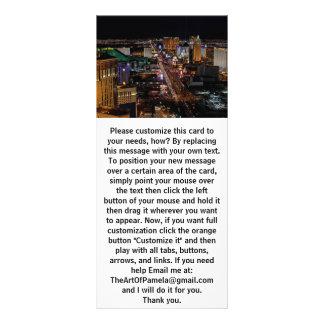 Las Vegas en la noche Lona Personalizada