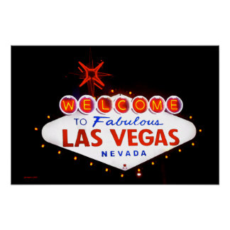 Las Vegas fabuloso - en la noche Póster