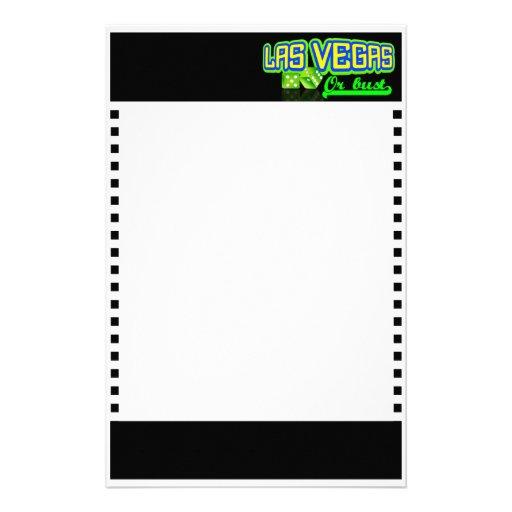 Las Vegas inmóvil, personalizable Papeleria De Diseño