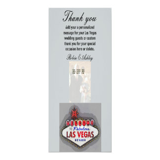 Las Vegas le agradece las tarjetas de la foto Invitación 10,1 X 23,5 Cm