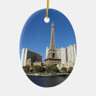 Las Vegas - París París Adorno Ovalado De Cerámica