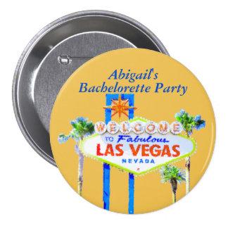 Las Vegas personalizado Bachelorette Chapa Redonda 7 Cm