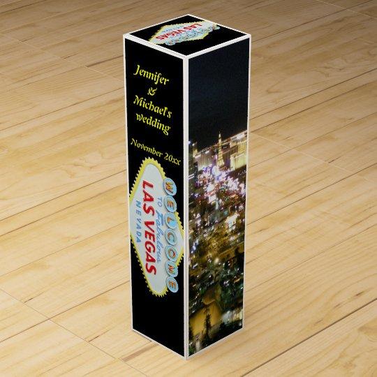 Las Vegas personalizado Caja Para Vino